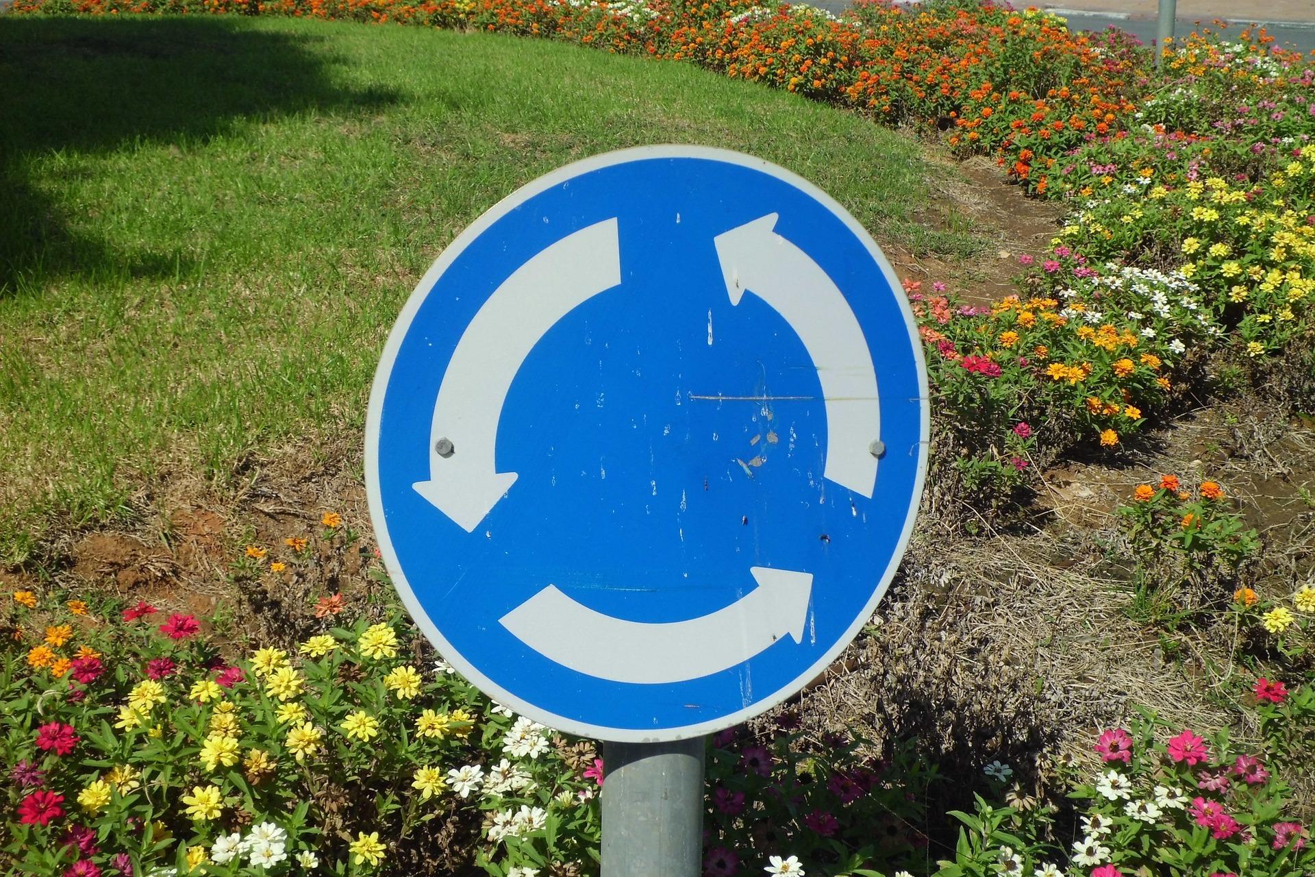 Significado señales de tráfico rotonda